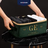 Storage Box Organizer Bahan Sutra Baju Makeup Kotak Penyimpana Premium