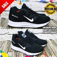 PGS Sepatu Anak Hitam Sekolah Laki Laki Perempuan Sneakers Nike Air 27