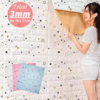 Wallpaper Dinding 3D Foam Batu Bata Motif Bintang Waterproof 70 x 77cm