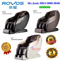 KURSI PIJAT ROVOS R 657 L 3 Dimensi Massage Chair ORIGINAL Dark Grey