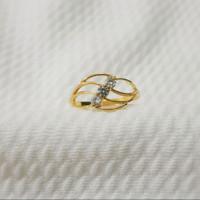 cincin mata 3 putih emas muda 1 gr