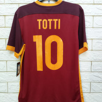 Jersey kaos baju bola asli original AS ROMA 2015 home TOTTI BNWT