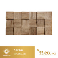 Cube Oak / Wall Paneling Covering Cladding