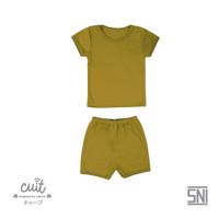 CUIT Setelan Pendek Celana Pendek BLOCK COLOR - Kuning, M