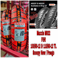 Ban Maxxis Scoopy New Sepasang 100/90-12 & 110/90-12 M922F & M922R