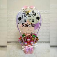 ballon box snacks/snacks box balloon/kado ultah/snacks box Bouquet