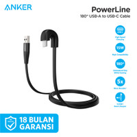 Kabel Charger Anker Powerline USB Type C 180 Degree - A8722
