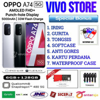 OPPO A74 5G RAM 6/128 GB GARANSI RESMI OPPO INDONESIA