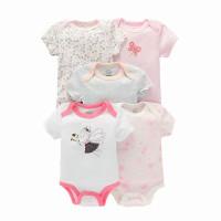5 pcs Baju Jumper Romper Bodysuit Bayi Perempuan Cewek Import BG2003