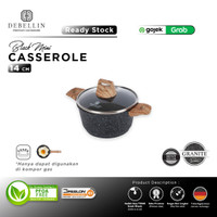 Debellin Black Mini Casserole 14 cm Panci Granite Anti Lengket - Mini CR14