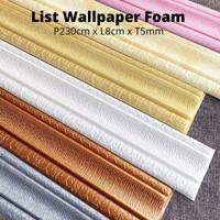 List Wallpaper Foam Wallpaper Border 3D Foam P230cm x L8cm
