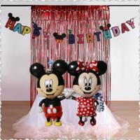 Balon Jumbo Mickey Minnie Mouse Dekorasi Ulang Tahun Happy Birthday