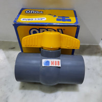 Ball Valve PVC 1 1/2 inch polos ONDA ( 1.5 inch) - Stop Kran Keran