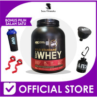 Whey Gold Standard 100 % Whey Protein ON 5 Lb Free Shaker BPOM