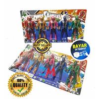 Mainan Robot Miniatur Power Rangers isi 5 Pcs No.698B - Super Rangers