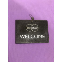 Gantungan Sign Toko OPEN CLOSED Leather Kulit MASTERCARD MASTER CARD