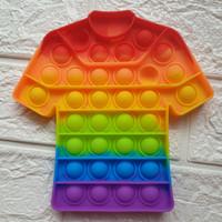 Pop it Rainbow baju soccer ada gambar bola free kelereng fidget toys