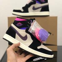 Sepatu basket Nike Air Jordan 1 purple-pink (FREE ONGKIR+FREE KAOS)