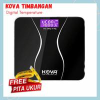 Kova Timbangan Badan Kaca Digital 180 KG with Temperature Sensor