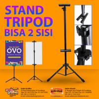 TRIPOD BANNER STAND 2 SISI / TIANG PROMOSI / STANDING BANNER - HITAM