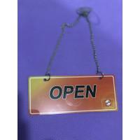 Gantungan Sign Toko OPEN CLOSED Leather Kulit SIMAS CARD SINARMAS