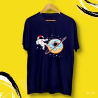Baju Kaos Gambar Astronot Orang Donat Luar Angkasa Planet Pria Distro