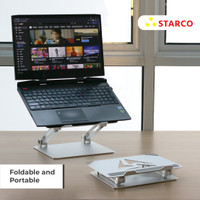 Starco Laptop Stand Tablet Stand Holder Foldable Portable Aluminium
