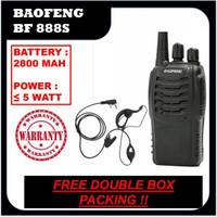 HT Baofeng 888S + Earset Single Band UHF Murah BF 888 S Frekuensi 16ch