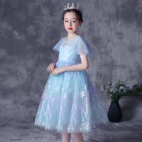 Baju Dress Anak Kostum Princess Frozen Elsa Import H040 4T-8T