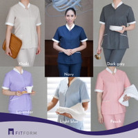 Baju Seragam Suster / Baby Sitter / Perawat - FITFORM/Celana Panjang