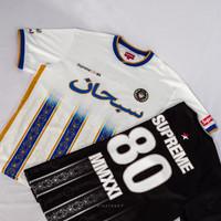 Kaos Jersey SUPREME Soccer Arabic - Hitam, M