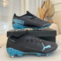 Sepatu Bola Puma Ultra 1.1 Black Light Blue FG