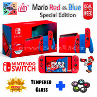 Nintendo switch mario edition red and blue V2 special edition