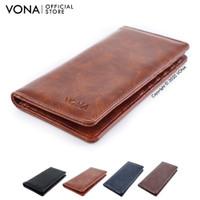 VONA Dompet Pria Panjang Kulit PU - Leather Tan - HUNTER