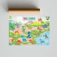 Poster SECIL Dinosaurus Bilingual 2 Bahasa - Poster Belajar Anak