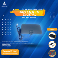 Taffware Antena TV Digital DVB-T2 4K High Gain 25dB