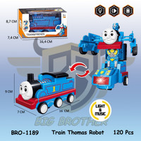 PROMO BRO1189 Mobil Robot Transformer Thomas Train Kereta Api Mainan