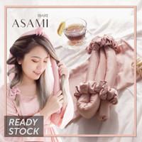 ASAMI Silk Heatless Curl Set Ribbon Wrap warna PINK BLUSH