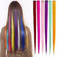 Hair Clip Highlight wig / Hair Clip On Extention ombre warna warni