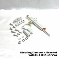 Stabilizer Stang Steering Damper NUI plus Breket Bravket R15 V3 VVA - Silver