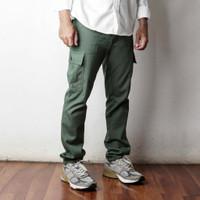 Men Cargo Pants - Green Army