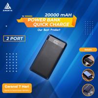 Power Bank Quick Charge 2 Port 20000mAh + LED Flash