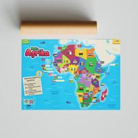 Poster SECIL Peta Benua Afrika PREMIUM