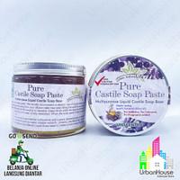 Pure Castile Soap Paste 400gr 100% Olive Oil Bahan Sabun Cair