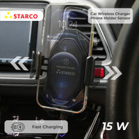 Starco Wireless Car Charger Phone Holder Sensor Fast Charging 15W