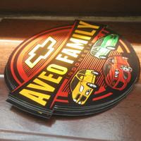 Vynil Glossy Stiker AveoFamily indonesia + Laminasi