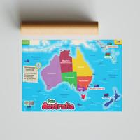 Poster SECIL Peta Benua Australia PREMIUM