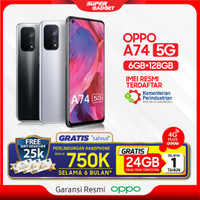 OPPO A74 5G 6/128 Smartphone android RAM 6 GB ROM 128 Fast charging