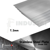 Plat Stainless 2mm   Stainless Steel Plate harga per 1 cm2