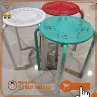 Bangku Besi Minimalis Serbaguna/Bangku Warung Makan Bulat/kursi bulat